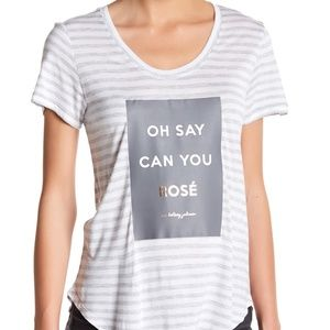 Betsey Johnson Oh Say Can You Rose Tee